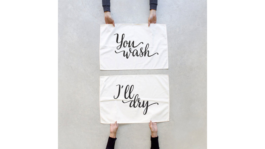 You Wash, I'll Dry Towel Set