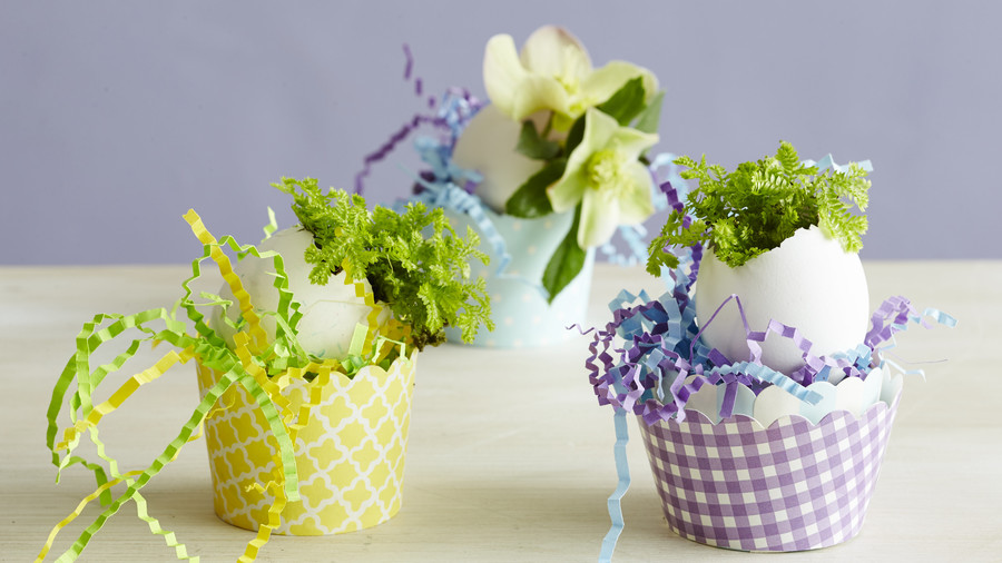 easter egg planters - Spring Decorating Ideas