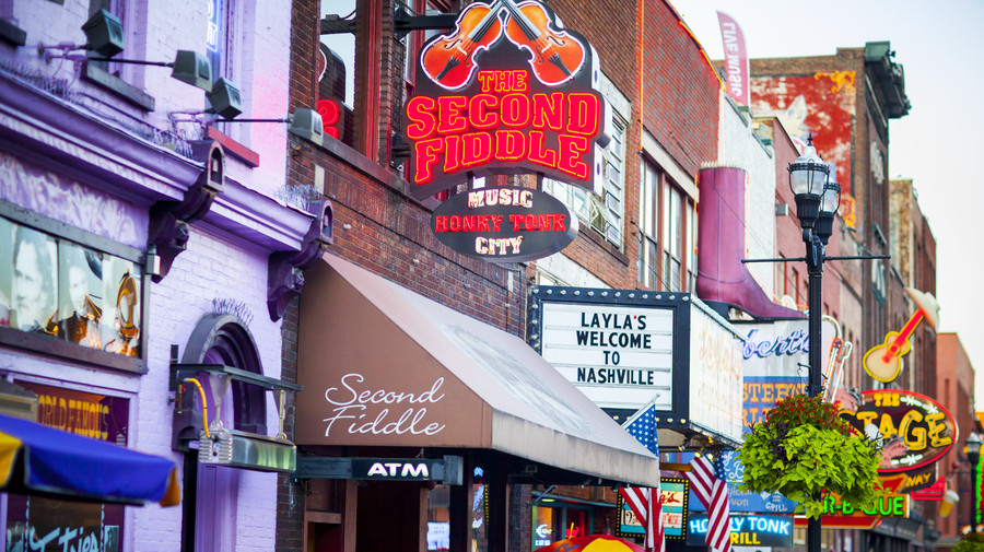 South's Most Colorful Streets Broadway, Nashville (TN)