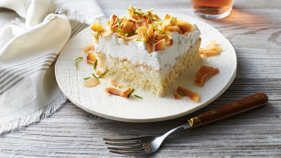 Coconut Tres Leches Sheet Cake Recipe