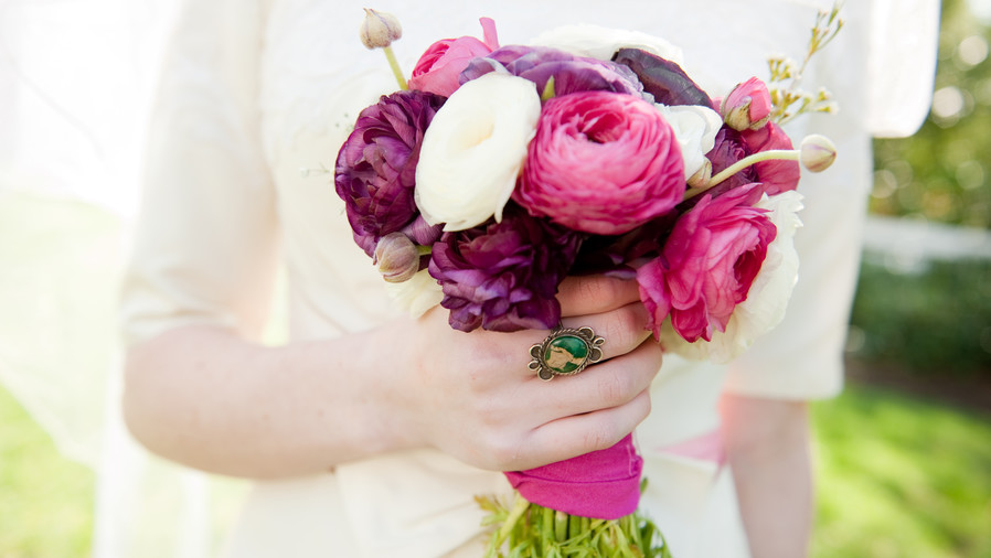 Ranunculus Wedding Bouquets Textured