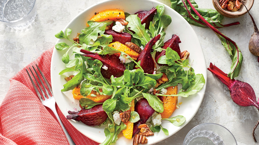 Beet-and-Orange Salad with Spiced Pecans