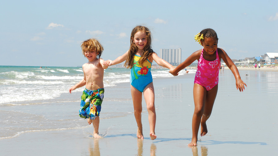 Kids playing on Myrtle Beach
