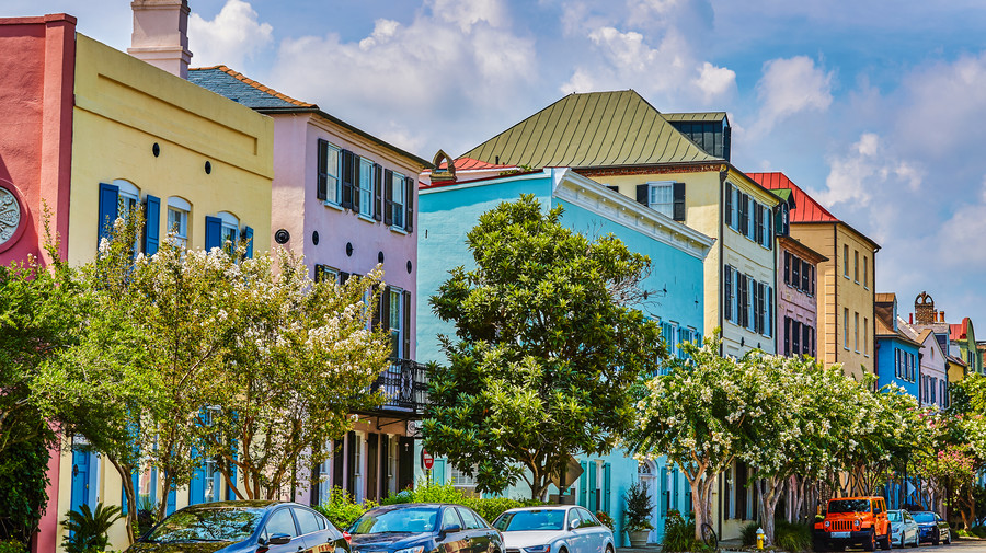 South's Most Colorful Streets Rainbow Row, Charleston (SC)