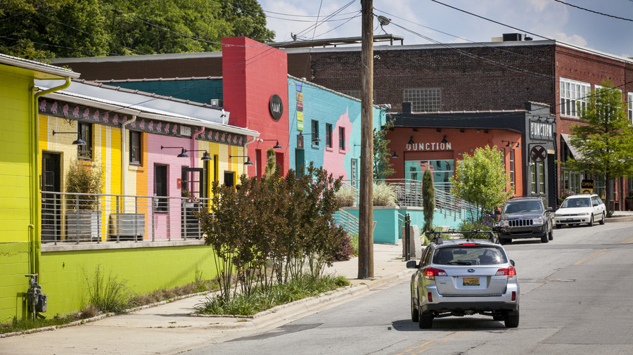 South's Most Colorful Streets Depot Street, Asheville (NC)