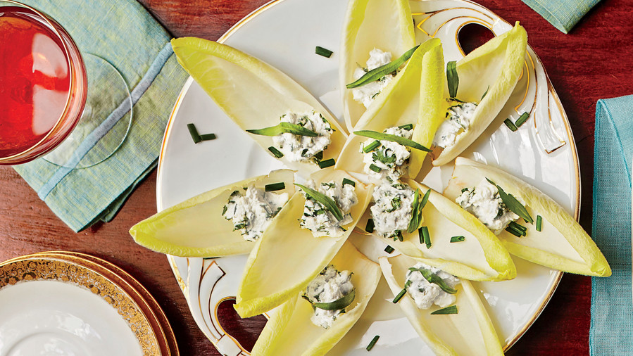 Stuffed Endive with Herbed Goat Cheese