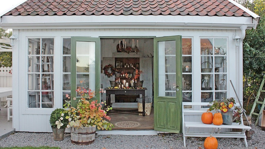 Charmant French Door Garden Shed
