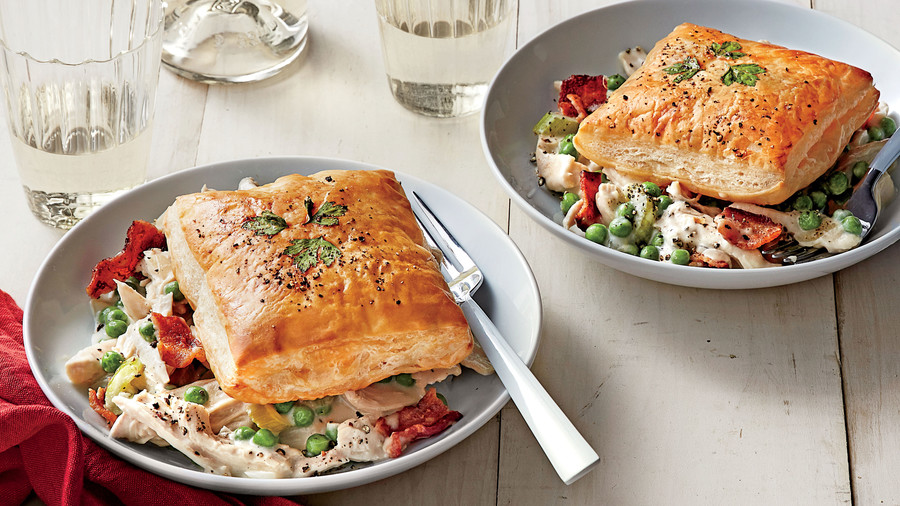 Creamy Chicken and Bacon with Herbed Puff Pastry