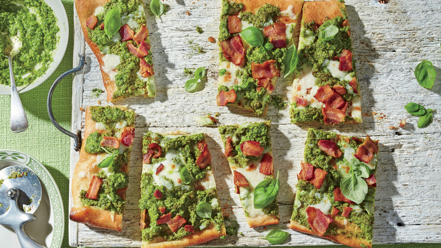 Pea Pesto Flatbread