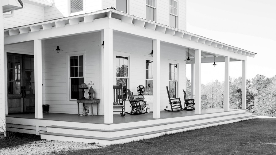 Porch with Furniture Before