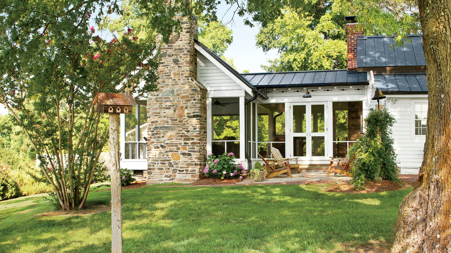 L Shaped Screened Porch