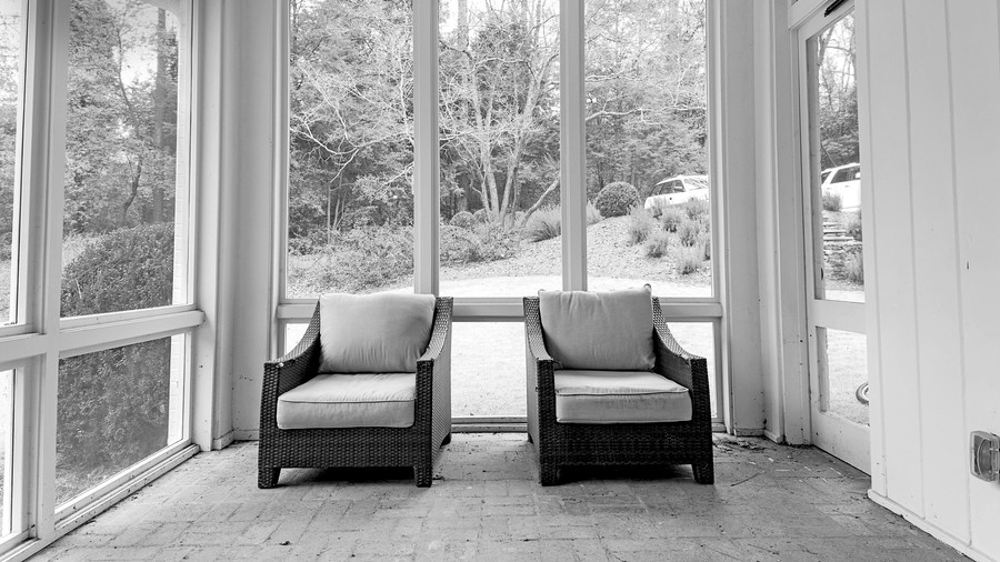 Porch with Just Two Chairs Before