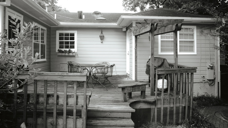 This Porch was a Wooden Deck