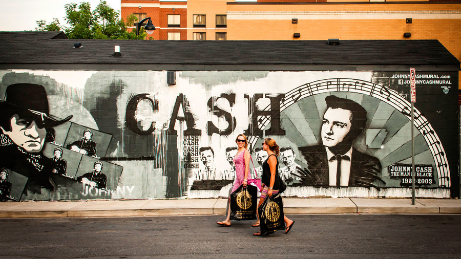 Johnny Cash Mural in Nashville