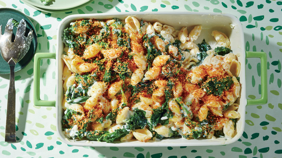 Creamy Kale and Pasta Bake