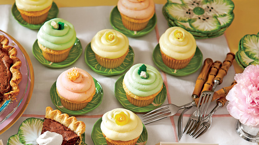 Lemon Sherbet Cupcakes with Buttercream Frosting