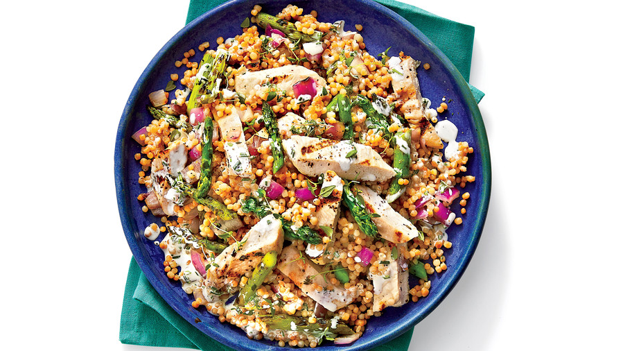 RX_1708_Comforting Fall Dinners_Grilled Chicken and Toasted Couscous Salad with Lemon-Buttermilk Dressing