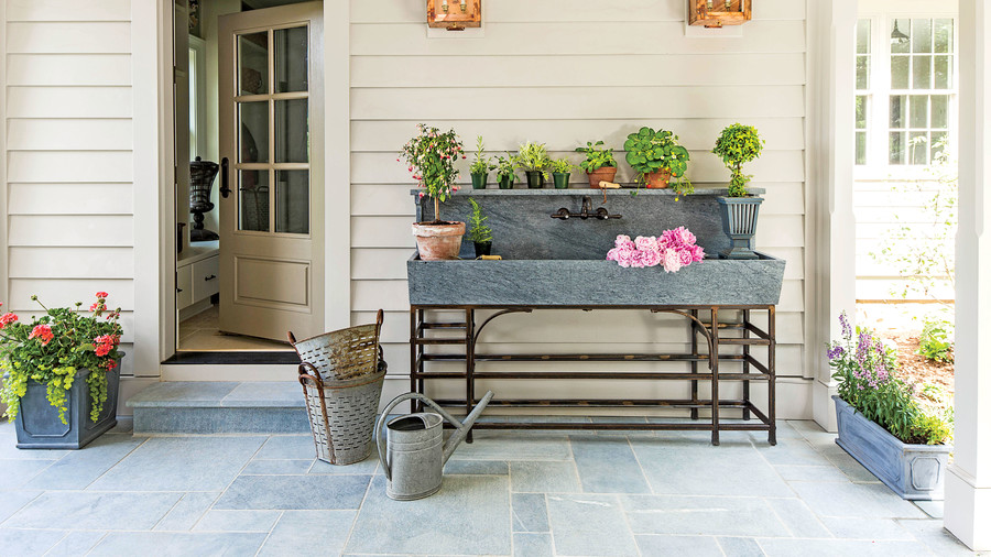 Outdoor Galvanized Sink