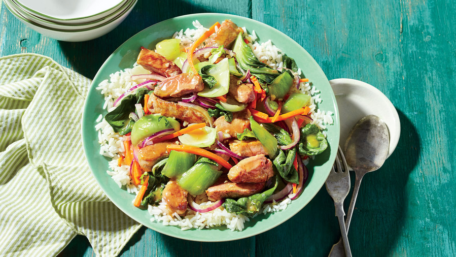 Pork and Bok Choy Stir-Fry