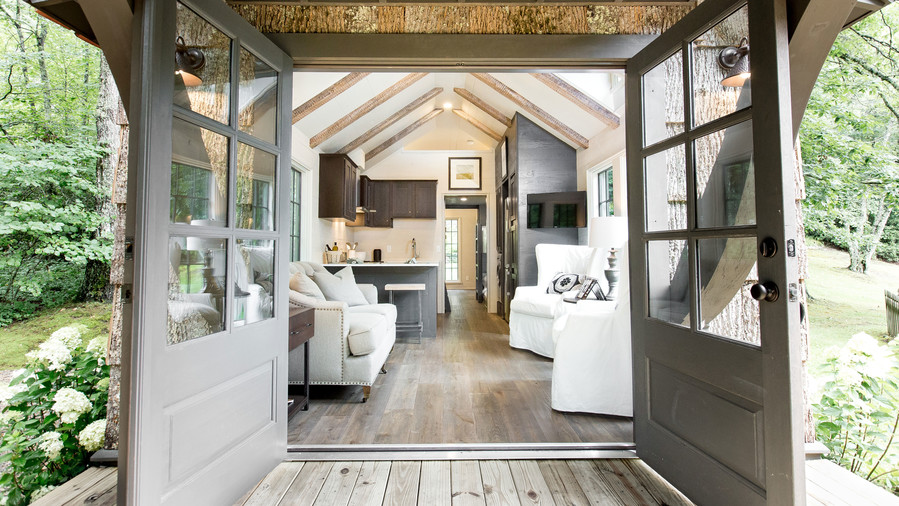 Tiny House Entrance French Doors