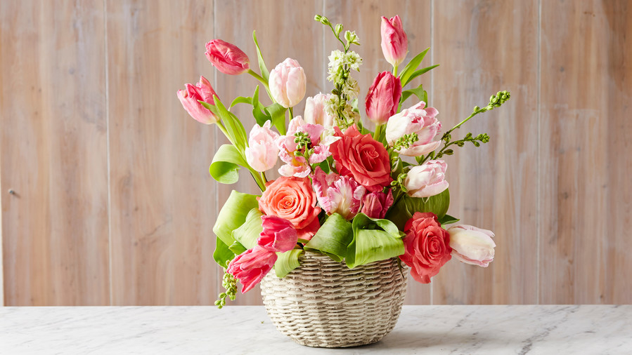 Tulip Basket Centerpiece