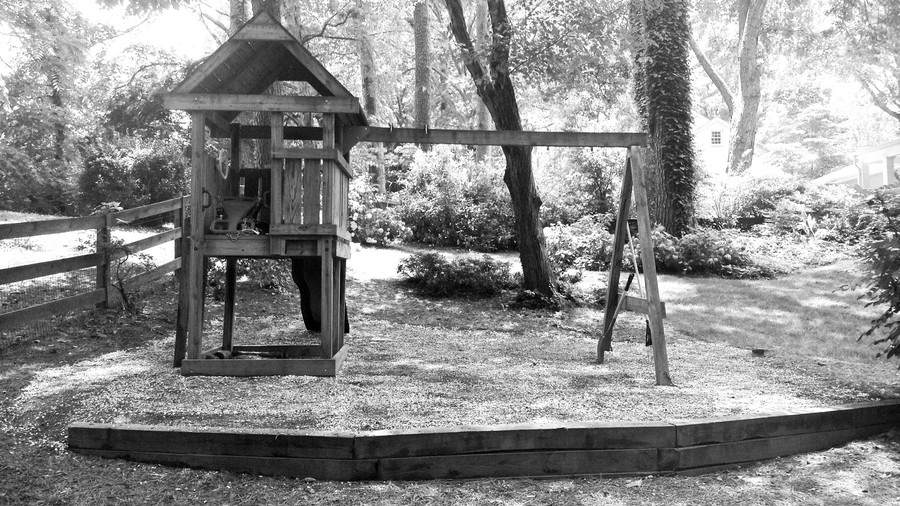 Backyard with Swing Set