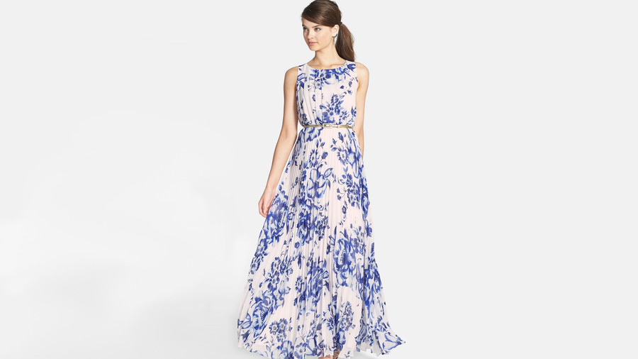 Floral Spring Wedding Guest Dress