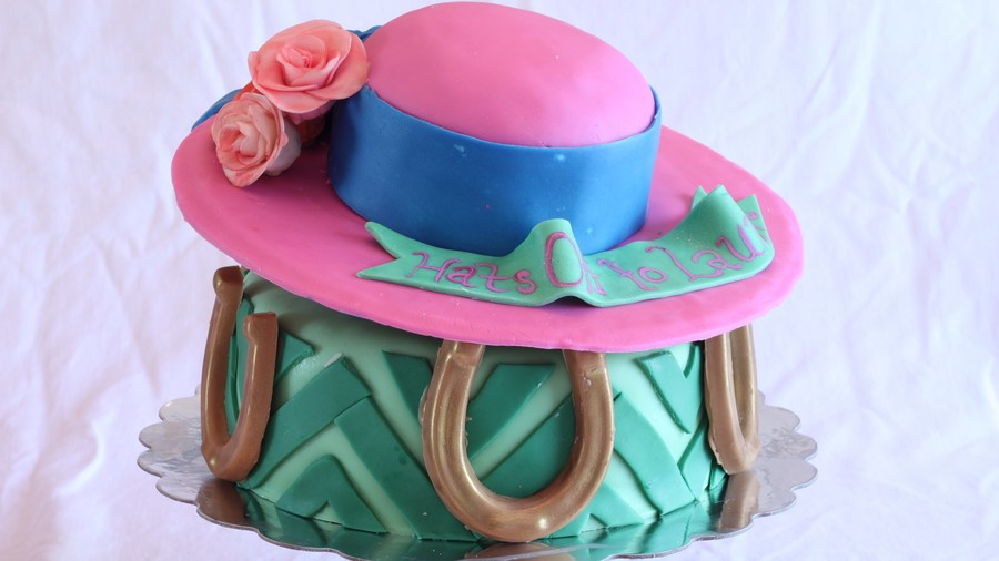 Chevron-Designed Cake
