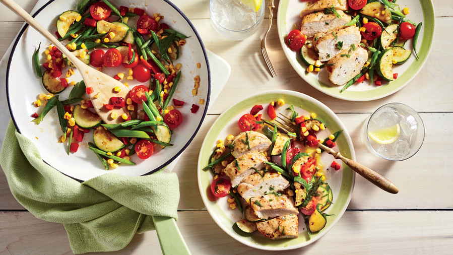 RX_1801_Packed Lunch Ideas_Chicken and Charred Succotash Salad