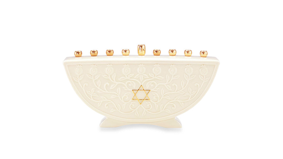 Lenox Hanukkah Blessings Menorah