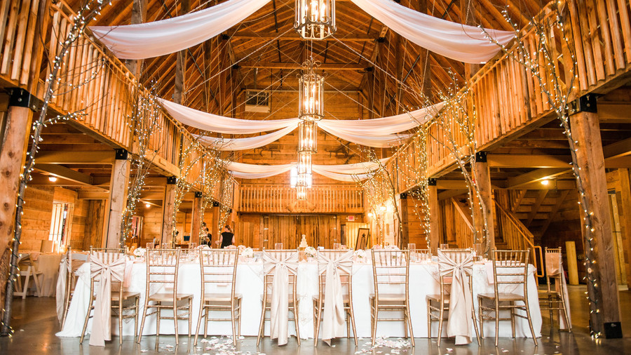 Glamorous Barn Wedding Reception