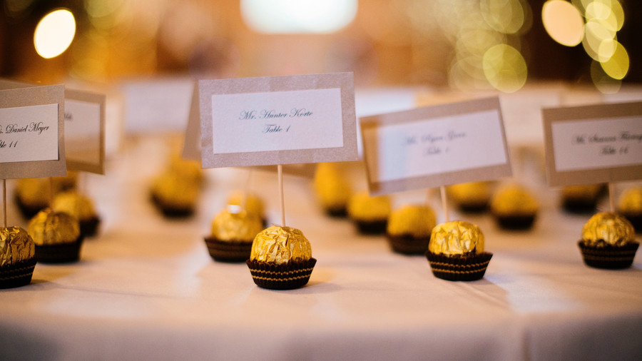 Clever Chocolate Escort Cards