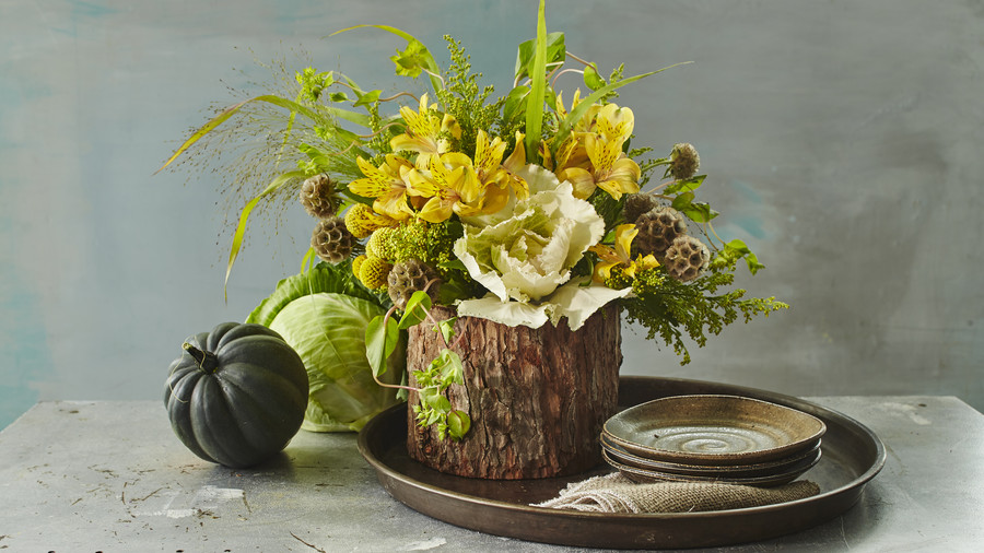 Woodland Monochrome Centerpiece