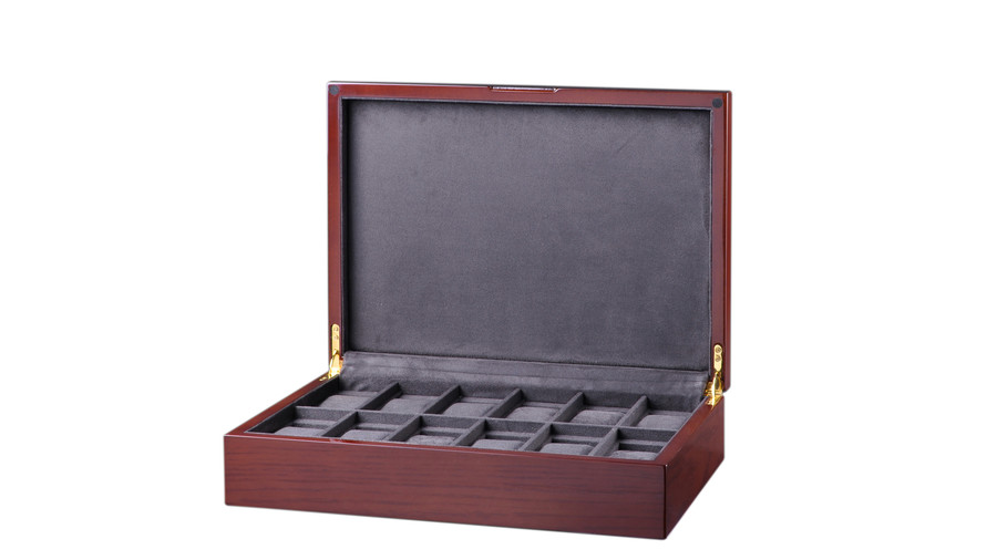Diplomat Genuine Mahogany Wood Watch Box