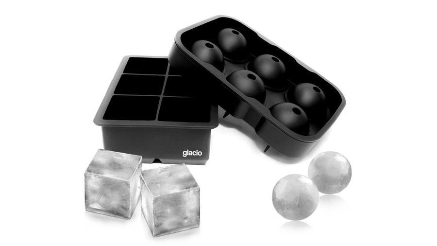 Glacio Large Ice Cube and Ball Molds