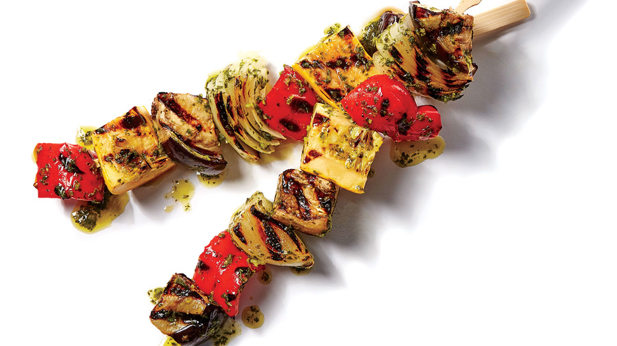 Grilled Ratatouille Skewers