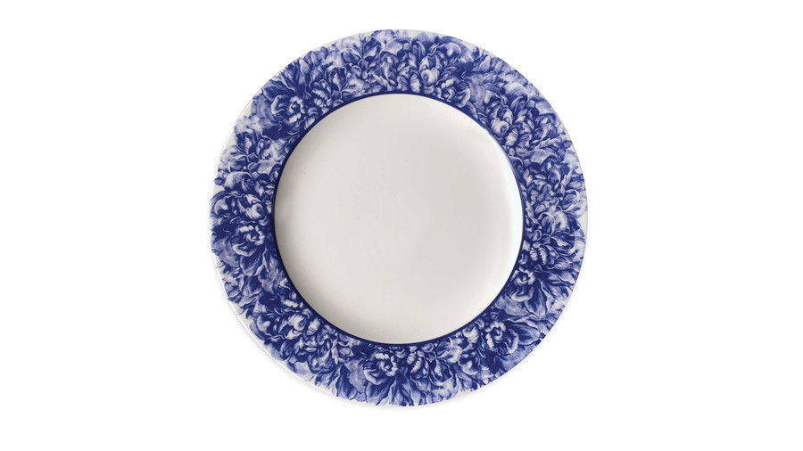 Caskata Peony Charger Plate in Blue