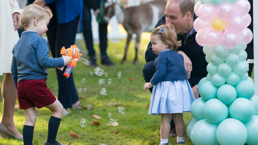 Our Prince Charming! 15 Adorable Photos of George Blowing Bubbles With Charlotte