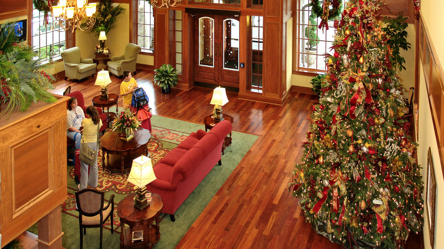 Lobby View from Second Floor Inn at Christmas Place