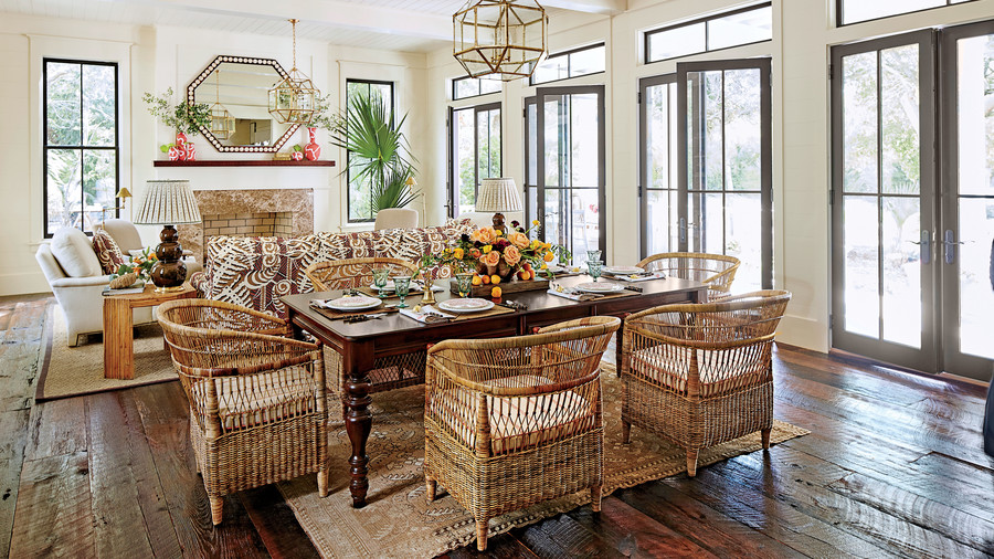 Our dream beach house step inside the 2017 southern for Southern living dining room ideas