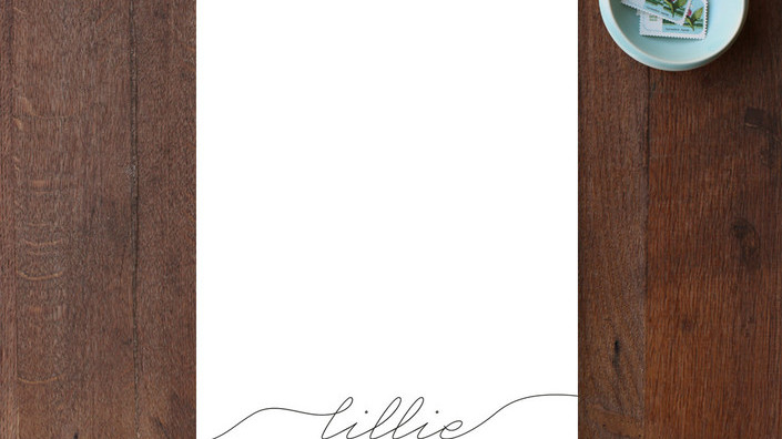 Chic Script Personalized Stationery