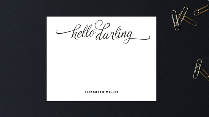 Hello, Darling Personalized Stationery