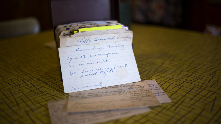 Old Recipe Cards and Box