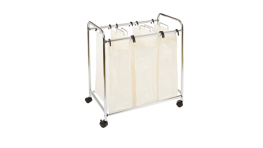 Three Basket Laundry Hamper