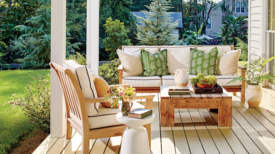 Anna Braund White Cottage Back Porch