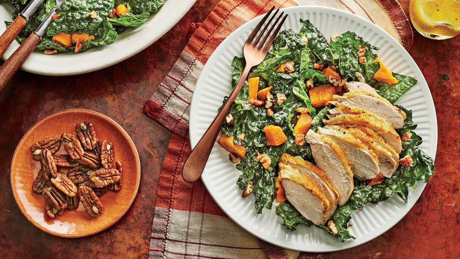 Kale and Sweet Potato Salad with Chicken Recipe