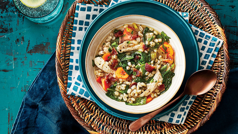Quick Chicken and Barley Stew