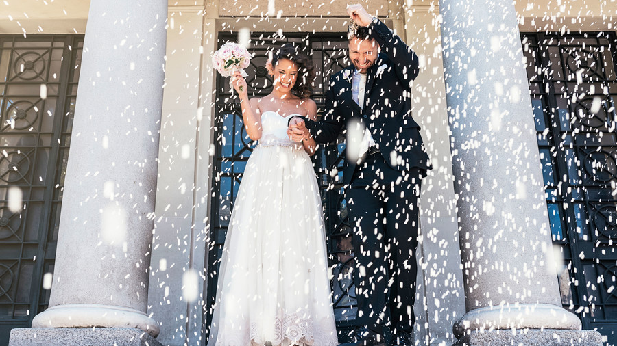 Image result for throwing rice at weddings