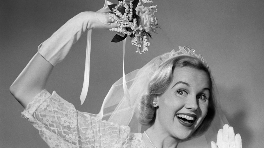 Bride Tossing Bouquet Origins