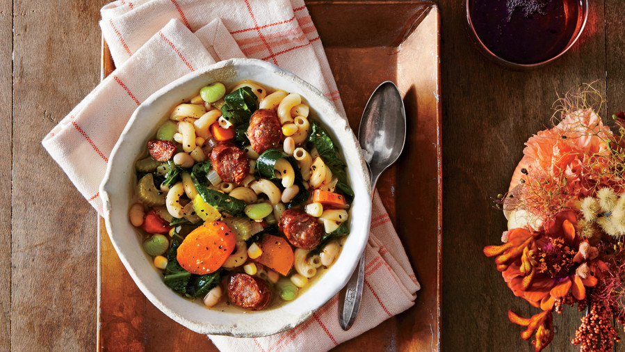 Slow Cooker Sausage Minestrone